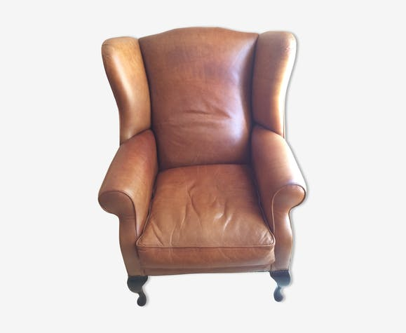 Laura Ashley brown leather armchair - leather - brown - vintage ...