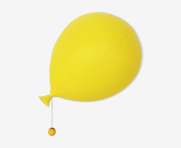 Lampe ballon en plastique jaune par Yves Christin pour Bilumen, Italie 1975