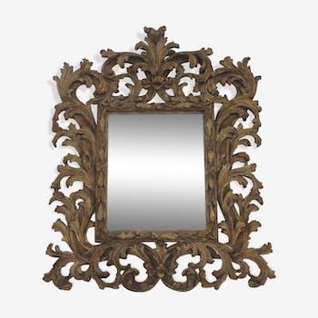 Mirror vintage bevelled wood sculpts dore 83x96cm