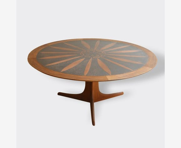 grande table basse ronde scandinave - Grande Table Basse Ronde