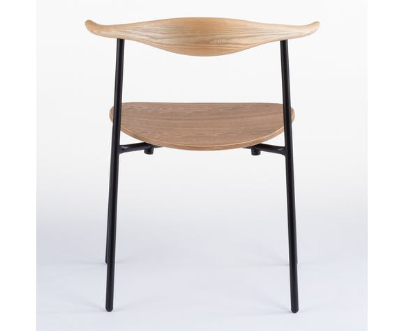 Chaise scandinave en bois et acier