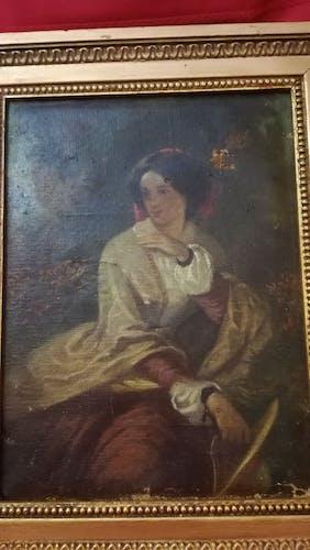 """Femme à la harpe"""