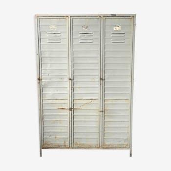 Meuble de m tier comptoir tabli vintage d 39 occasion - Armoire industrielle occasion ...