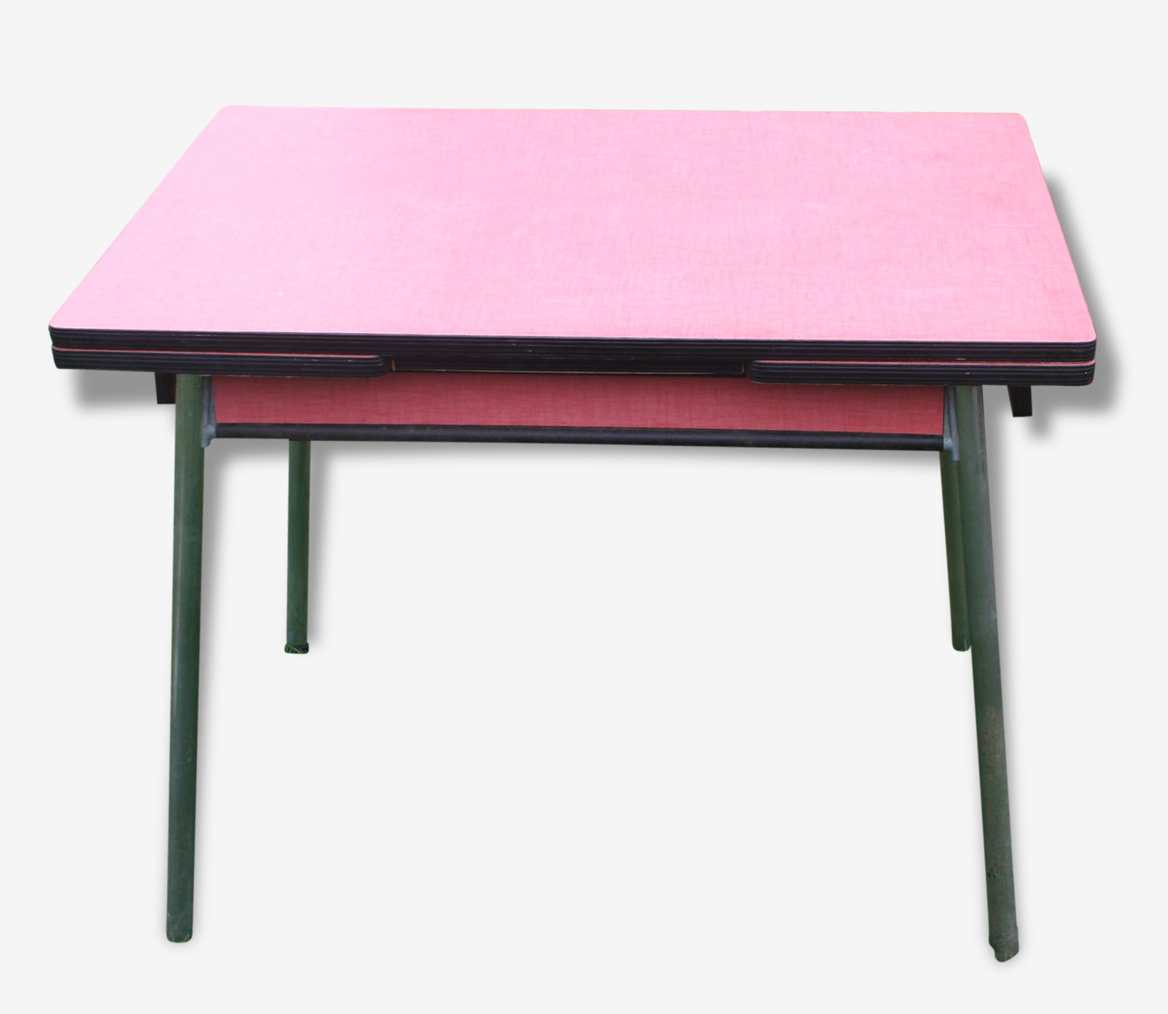 Table formica rouge avec rallonges