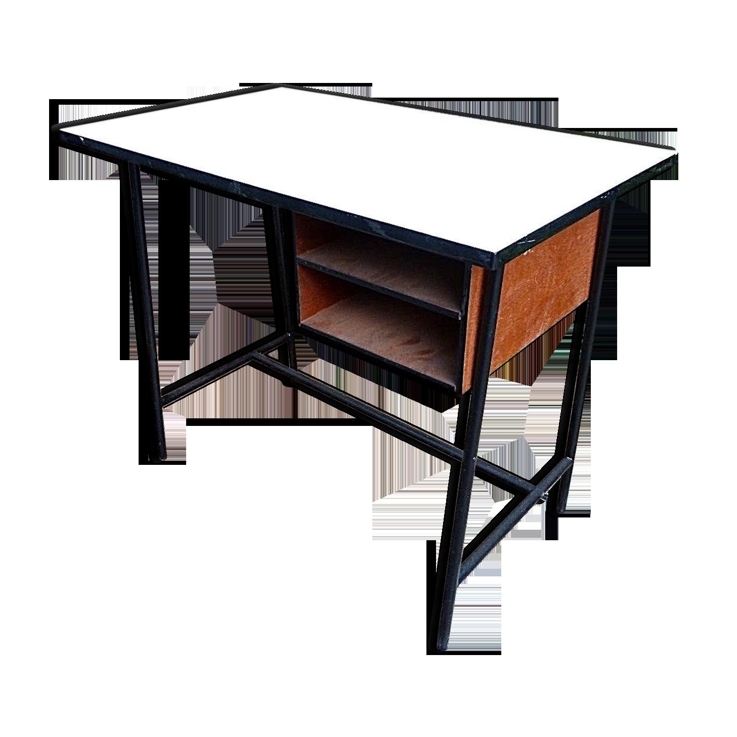 Bureau design scandinave vintage métal noir scandinave