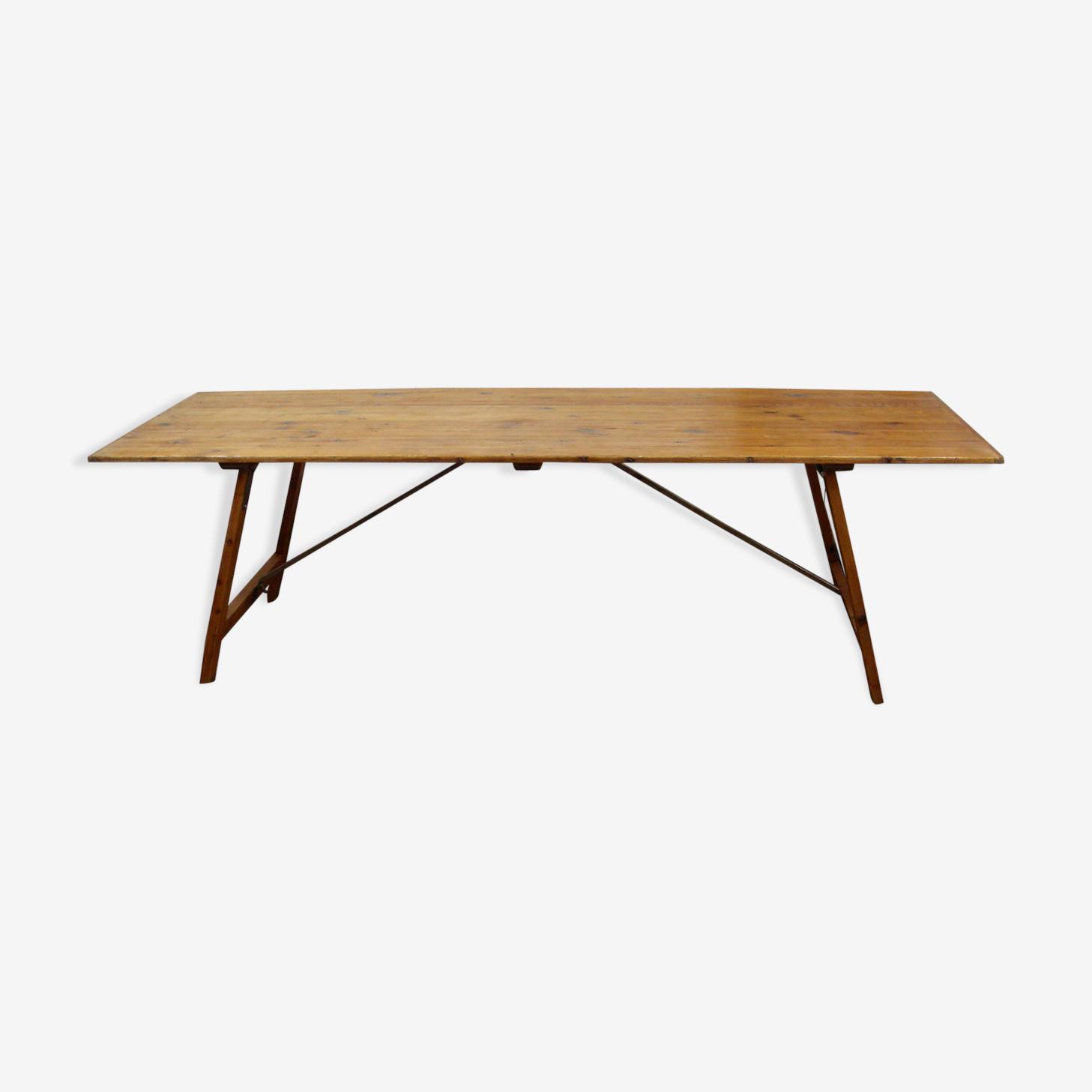 Large folding harvest farm table