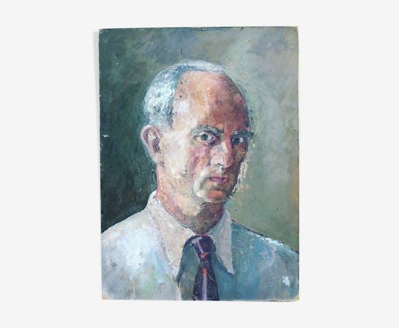 Portrait d'homme à la peinture à l'huile 1930s