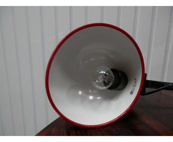 Red desk Guzzini lamp of the 1970s Italy