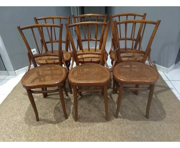 Suite of 6 chairs by Bistrot Austro-Hungarian Fium 1890