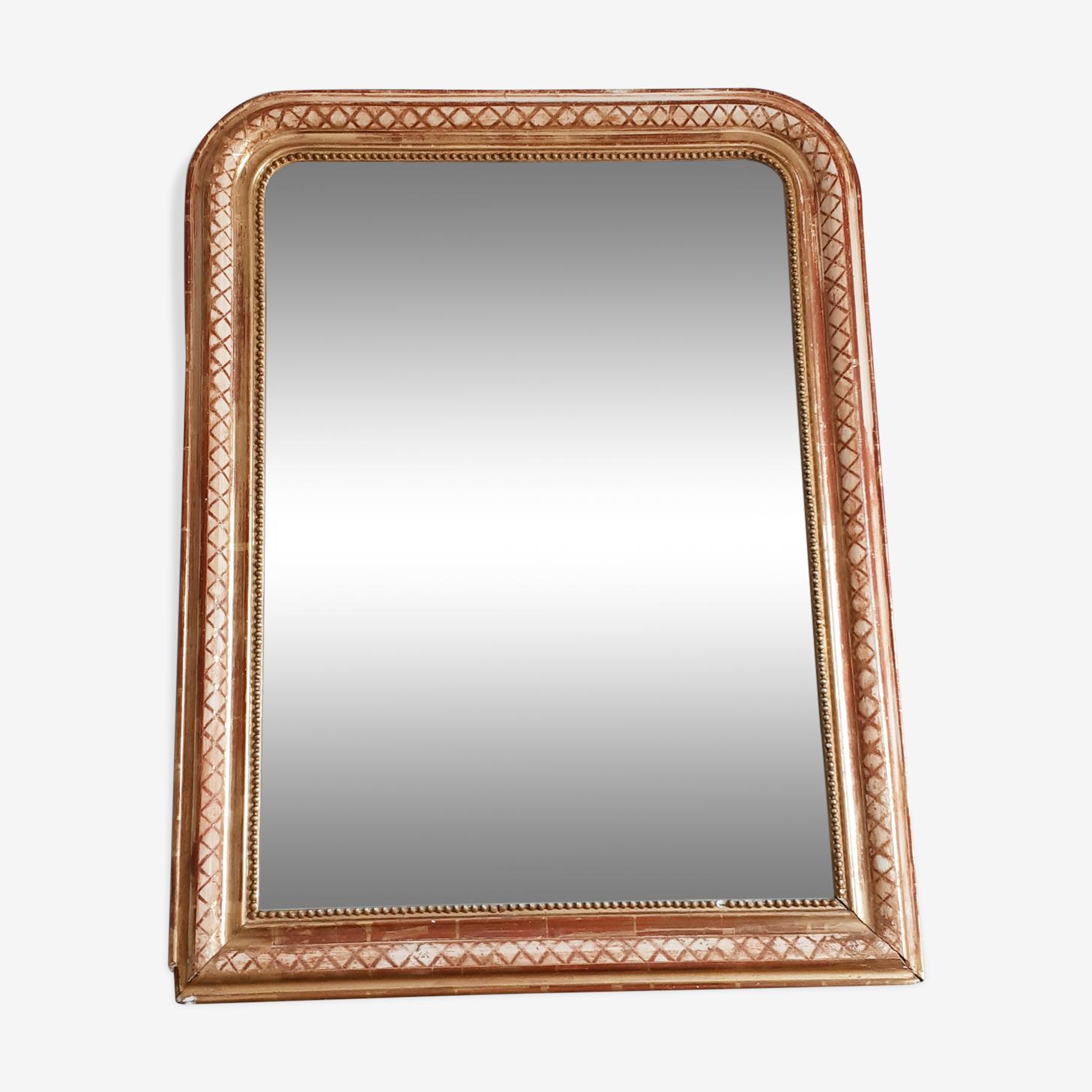 Miroir doré style Louis Philippe 90 x 69 cm