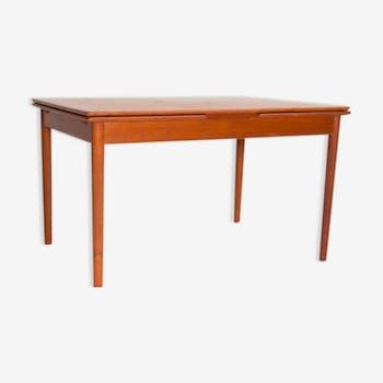 Table de salle manger vintage d 39 occasion - Table extensible teck ...