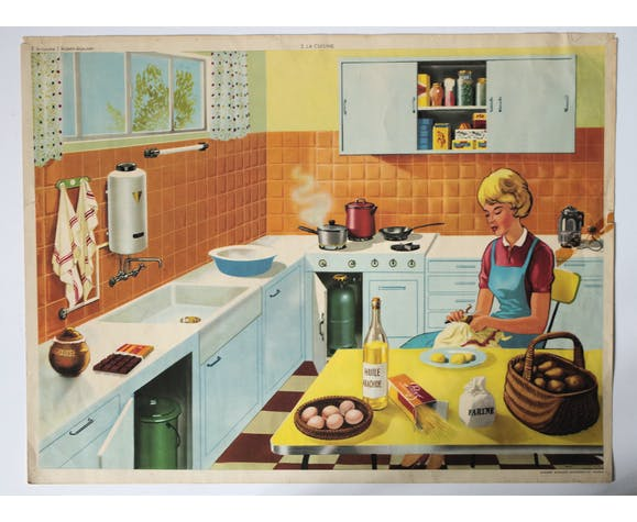 Rossignol educational poster - breakfast/cooking