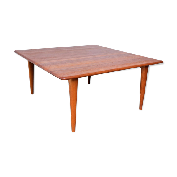 Table basse carrée en teck massif de Mikael Laursen 1960s