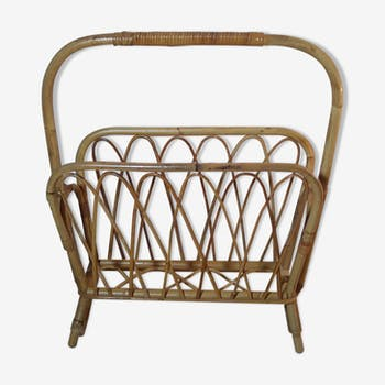 Magazine rack Wicker, early 1970s