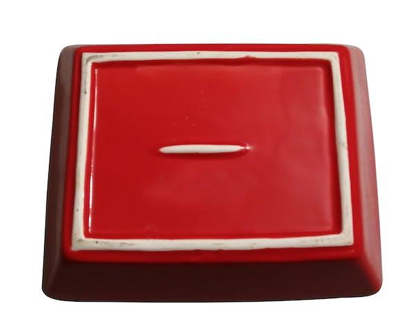 Ensemble de trois ramequins en céramique rouge