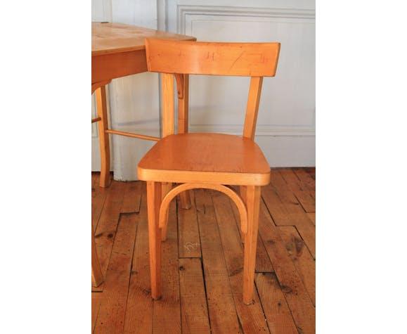 Baumann wood child desk and chair