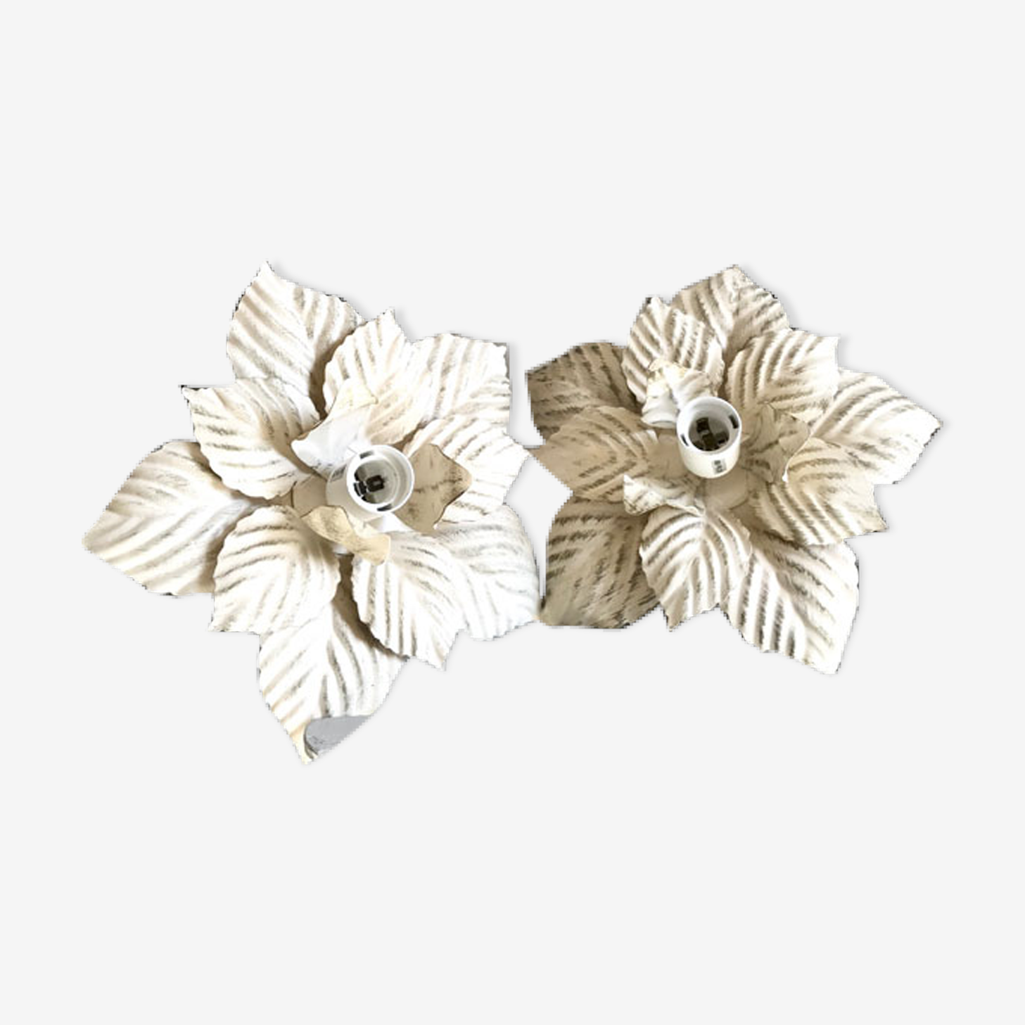 Pair of wall light vintage flowers