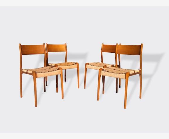 Quatre chaises Consorzio Sedi Friuli. Italie, années 1960