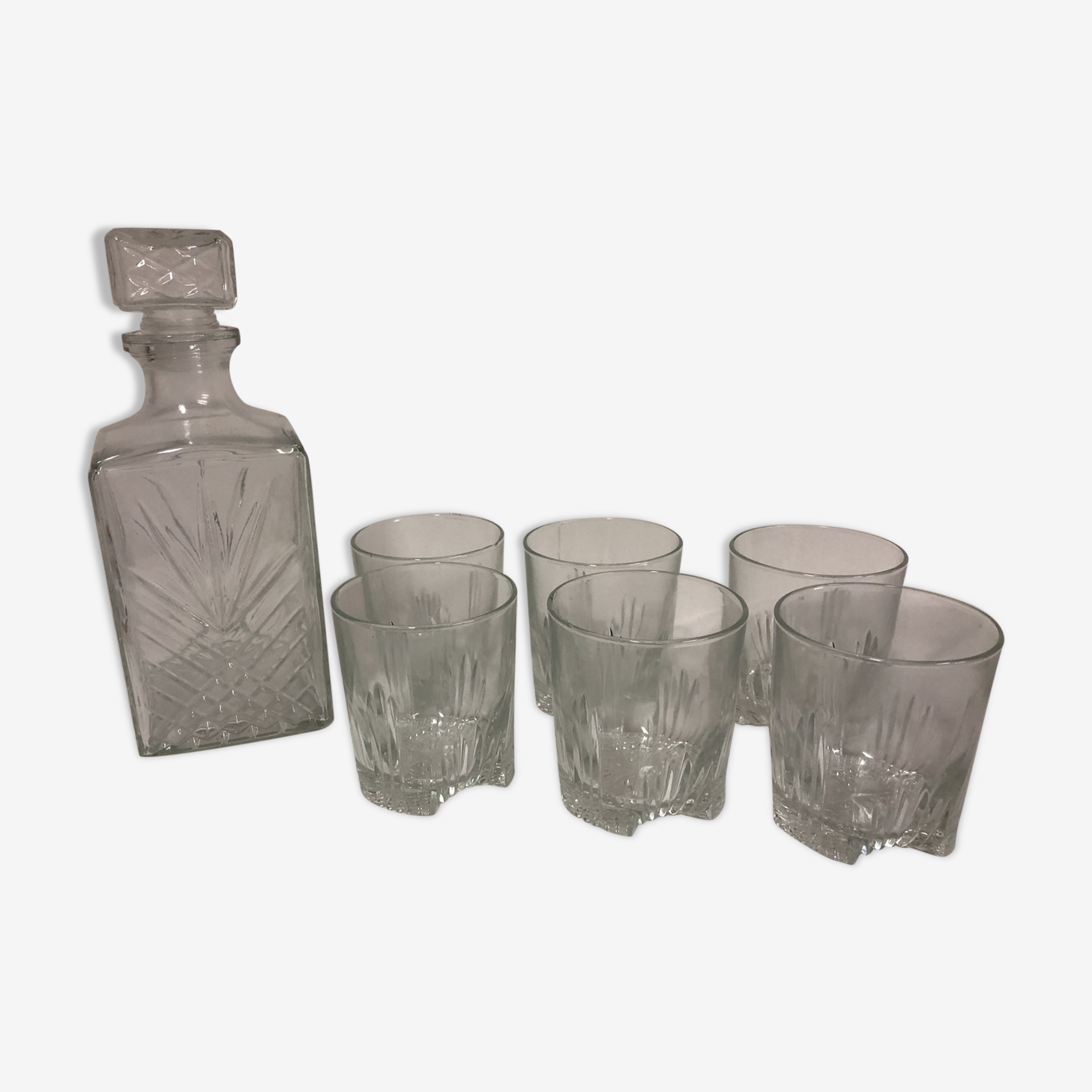 All decanter whiskey and glasses