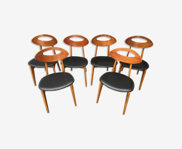 6 Roger Landault chairs for Robert Sentou
