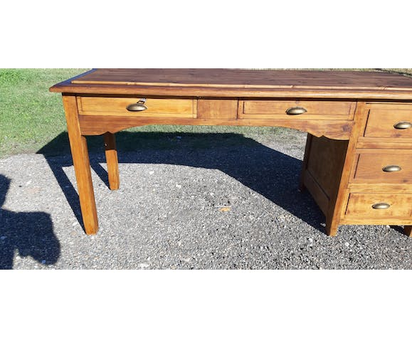 Table de metier drapier pin 5 tiroirs