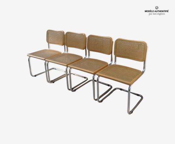 Suite de 4 chaises B32 par Marcel Breuer