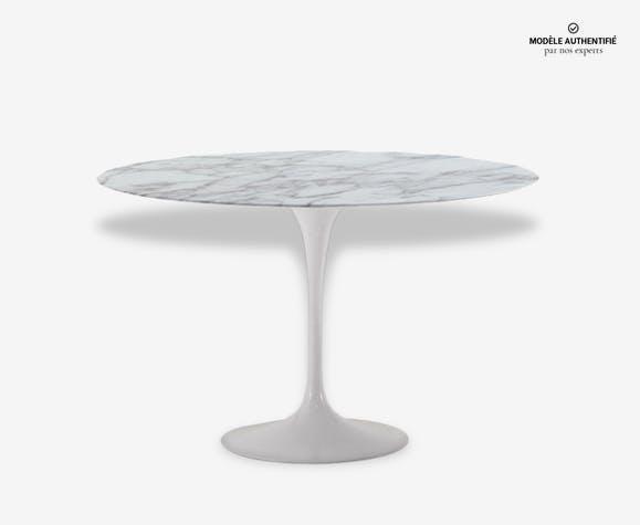Table Ronde Knoll Eero Saarinen Tulipe 120 Marbre Blanc Design