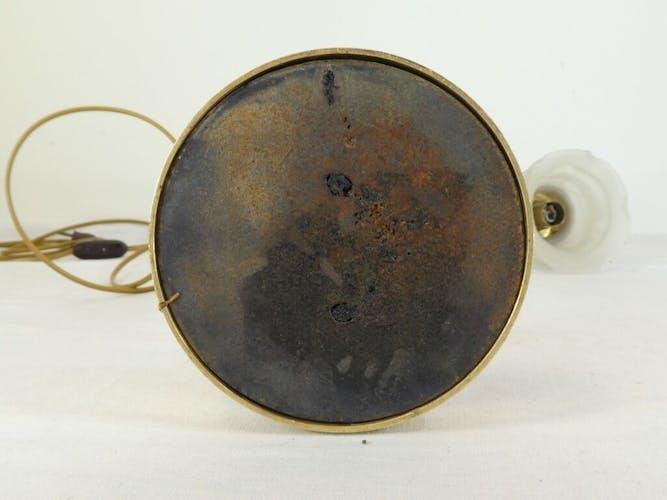 Ancienne lampe de bureau en bronze doré