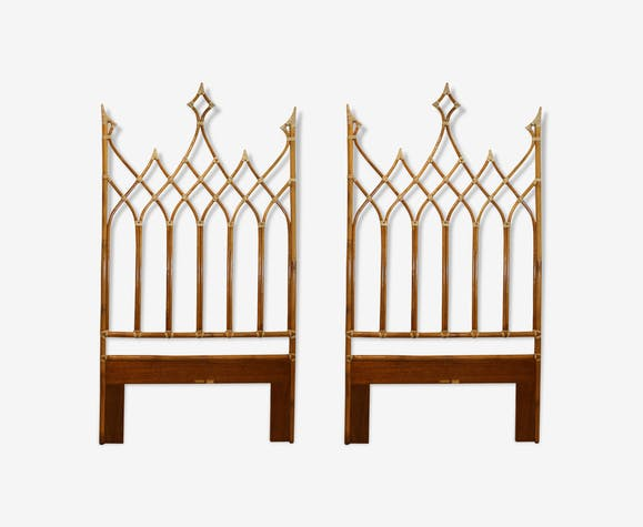 Two headboards, by Mcguire 1970s.