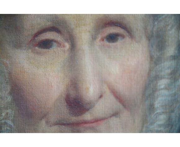 Portrait huile sur toile XIXème signé Elisa Drojat 1867
