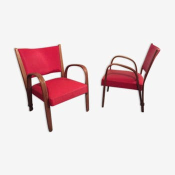 Pair of armchairs from the 1960 signed Steiner
