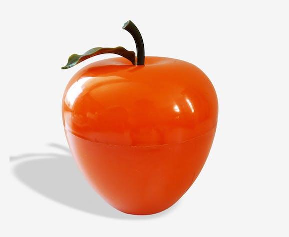 Seau à glaçons vintage pomme orange