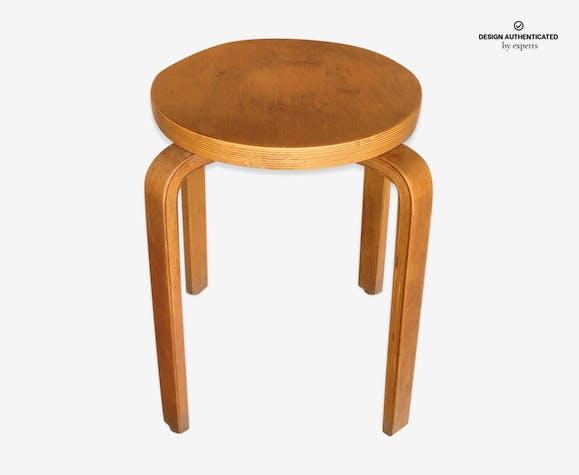 Tabouret En Bois Vintage Alvar Aalto Modèle 66 Wood Brown
