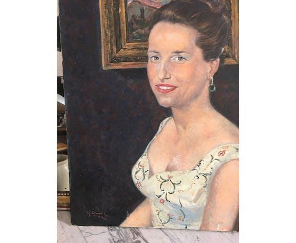 Portrait oil o canvas 20th Cty