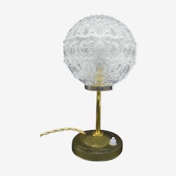 Lampe champignon style Muller frères en pâte de verre années