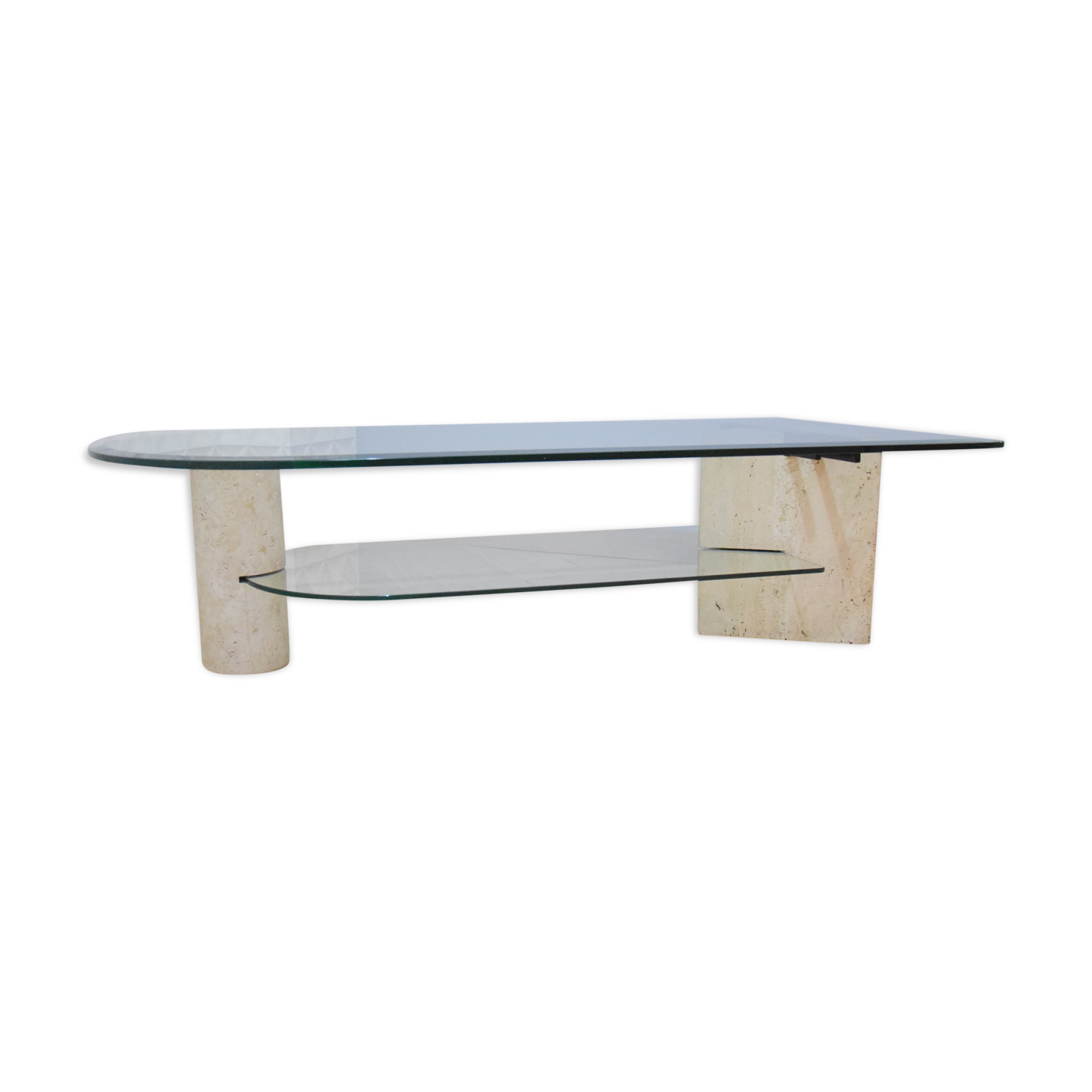 Table Basse En Verre Par Roche Bobois Des Années 70, 80