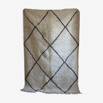 Beni ouarain woven hand to the Morocco carpet 63x240cm