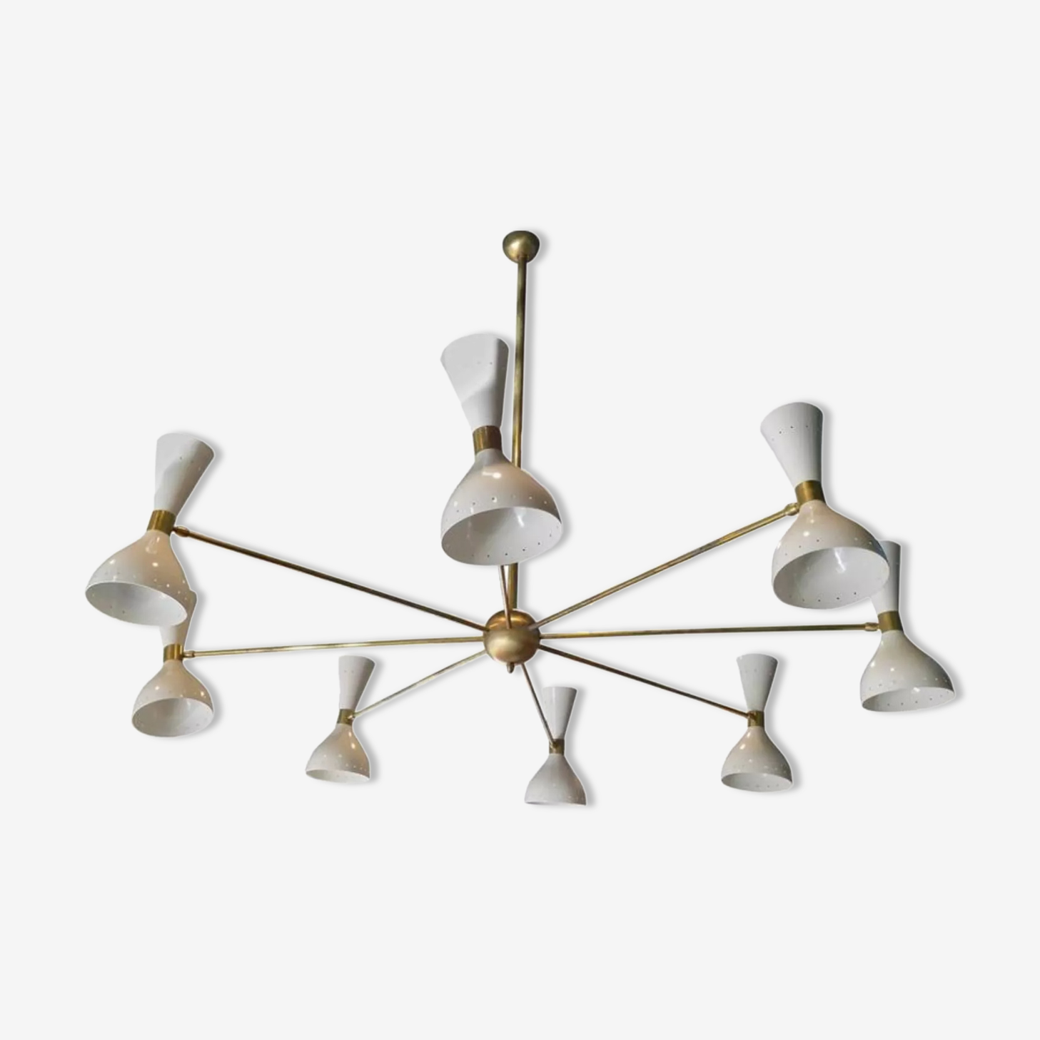 Chandelier in the style of the Italian creations of the 50s