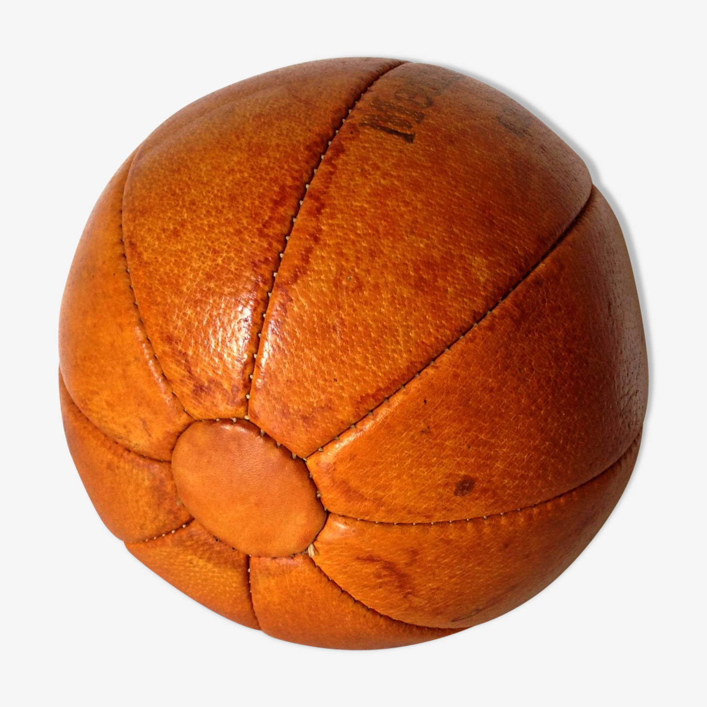 Ballon vintage en cuir