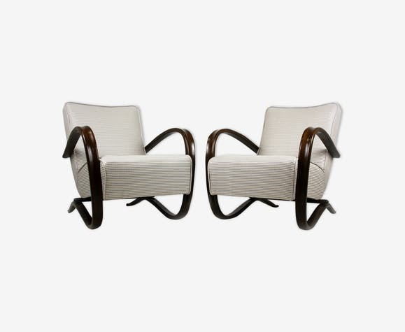 Set of 2 H - 269 armchairs by Jindrich Halabala, 1930s