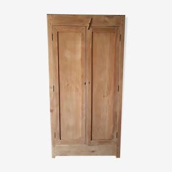 100cm raw pine cabinet