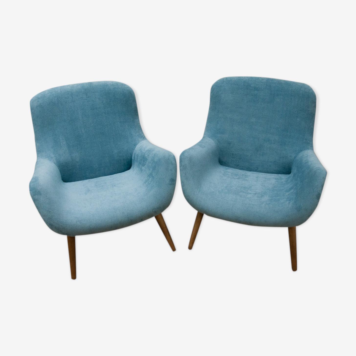 Paire de fauteuils danois, années 1960