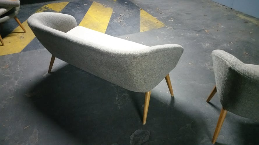 Sofa Danish cocktail of the 50s/60s