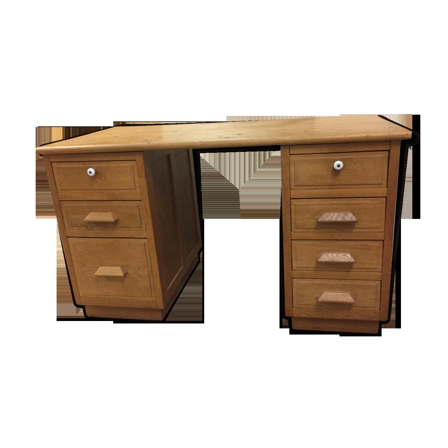 Bureau en bois démontable bois matériau bois couleur