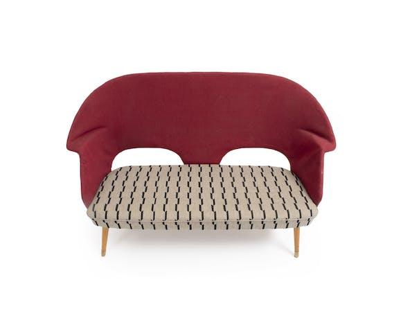 Striped open-end sofa