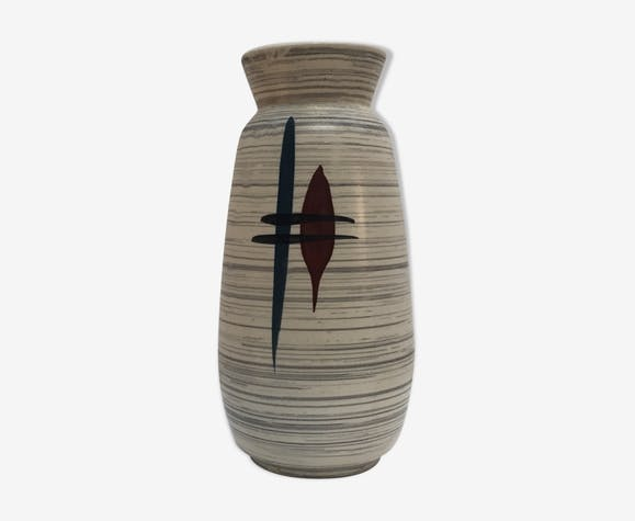 Vase décor abstrait manufacture W. Germany 1960
