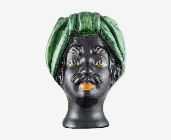 Vase tête mini verte homme Giacomo Alessi
