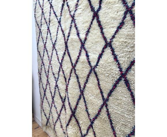 Tapis berbère marocain ancien beni ouarain 246x183cm
