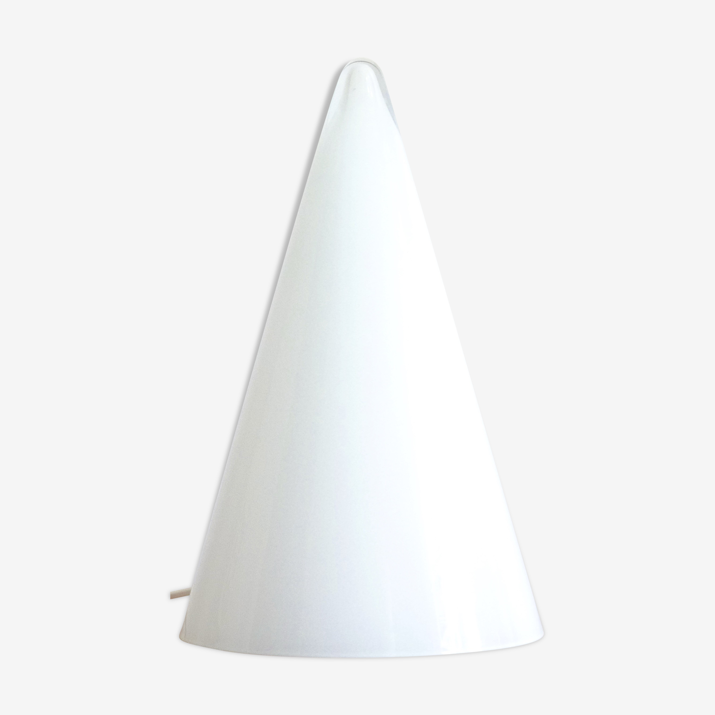 Conical lamp in opaque glass, CES Made in France, 80 years