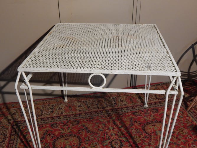 Table jardin metal design Mategot, années 50/60